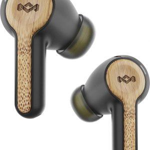 House of Marley Rebel Bluetooth Oordopjes - 30+ uur - 2 EQ instellingen - Volledig draadloze oortjes - Draadloos opladen - Zwart