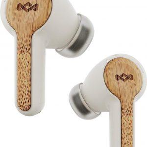 House of Marley Rebel Bluetooth Oordopjes - 30+ uur - 2 EQ instellingen - Volledig draadloze oortjes - Draadloos opladen - cream