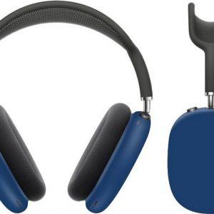 KELERINO. Siliconen Case geschikt voor AirPods Max - Accessoire - Blauw
