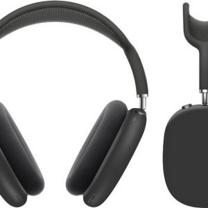KELERINO. Siliconen Case geschikt voor AirPods Max - Accessoire - Zwart