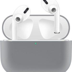KELERINO. Siliconen Case voor Apple AirPods Pro - Hoesje - Grijs