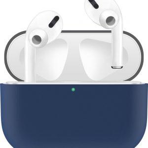 KELERINO. Siliconen Case voor Apple AirPods Pro - Hoesje - Grijs / Blauw