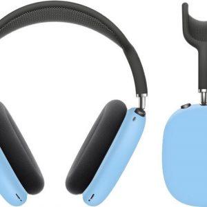 KELERINO. Siliconen Cover Case voor Airpods Max - Lichtblauw