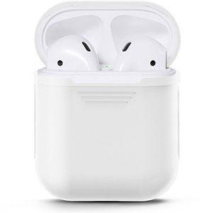 KONINGSDAG Voordeelset 3 stuks Apple Airpods Siliconen - Case - Cover - Hoesje - Geschikt voor Apple Airpods 1 en 2 - Rood / Wit / Blauw