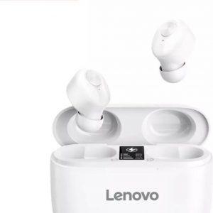 Lenovo HT18 - Draadloze TWS Stereo HD Mic - Grote batterij 1000 mAh - Oplaadetui met LCD-scherm - Echte Bluetooth-headset - Wit