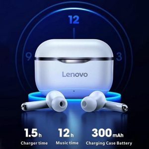 Lenovo LivePods LP1 | Bluetooth Oordopjes | Earbuds | Zwart | Zwarte Lenovo Oortjes