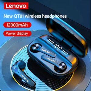 Lenovo - Oordop - Wireless Earphones - Draadloos - Draadloze Oordopjes - Draadloze Oortjes - Bluetooth Oordopjes - Oor - Bluetooth Oortjes - Zwart
