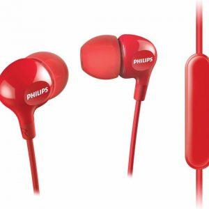 Philips SHE3555 UpBeat Tunes - In-ear oordopjes - Rood