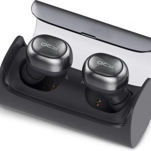 QCY Q29 Stereo Voice Noise Canceling Dual Mini V4.1 Bluetooth Draadloze Koptelefoon / Headset / Headphone / Oordopjes / Oortjes / Hoofdtelefoon / Oortelefoon / Headphones Wireless Earbuds met Charging Case - Zwart
