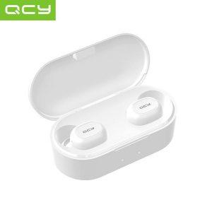 QCY T2C (2e gen) (WIT) Volledig draadloos In-Ear oordopjes| Bluetooth 5.0 | Meer dan 32 uur gebruik (met oplaadcase) | 3D Stereo Geluid | Dual Microfoon | Beide oordopjes onafhankelijk te koppelen | Oplaadcase met sluiting tegen stof