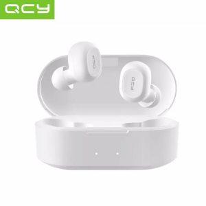 QCY T2C GS2 (2e gen) - TWS True Wireless Stereo - Draadloze Oordopjes - BT Oortelefoon - Bluetooth 5.0 - Microfoon - In-Ear Oortjes - Wit