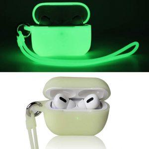 Shieldcase Case geschikt voor Airpods Pro case glow in the dark - groen