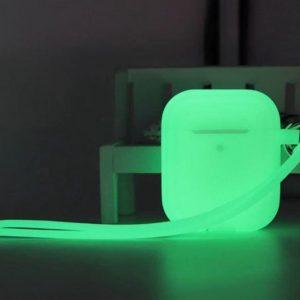 Shieldcase Case geschikt voor Airpods case glow in the dark - groen