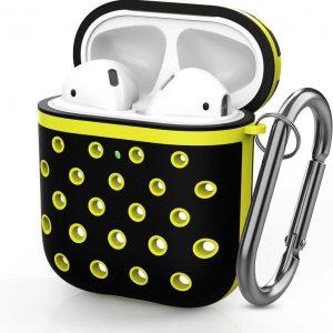 Shieldcase Case geschikt voor Airpods silicone case - zwart/geel