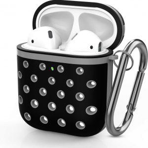Shieldcase Case geschikt voor Airpods silicone case - zwart/grijs