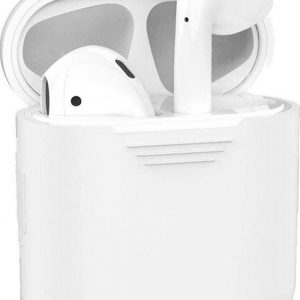 Studio Air® Airpods Hoesje Siliconen Case - Transparant Frosted - Airpod Hoesje geschikt voor Apple AirPods 1 en 2