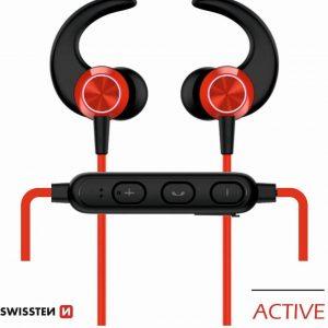 Swissten Bluetooth Oordopjes Active - Draadloze Sport Oordopjes - Rood