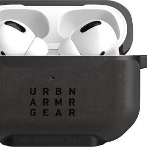 UAG Metropolis Airpods Pro Leather Armor Case Zwart