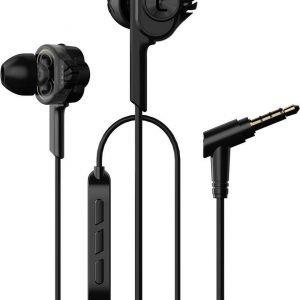 UiiSii T6 in-ear oortjes - 120cm met microfoon en controller - Dual Dynamic Hi-Res Oordopjes - Zwart