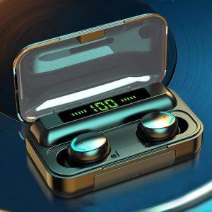 Wireless Earphones|Bluetooth 5.0| Draadloze Hoofdtelefoon 9D Stereo |Sport spatwaterdicht Oordopjes| Headsets Met Microfoon |Bluetooth 5.0 Koptelefoon met 2200 mAh Opladenbox| Draadloze Oortjes | Bluetooth Oordopjes | | Bluetooth Oortjes