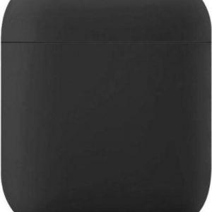 Zwart - Hoesje Apple Airpods 1 & 2 - Siliconen hoesje - beschermhoesje - Soft case - Cover