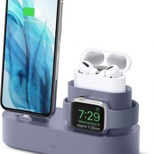 elago CHARGING HUB PRO for iPhone / AirPods Pro / Apple Watch (Lavender Grey)