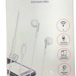 iPad iPhone Oordopjes met lightning connector - Luxe Oortjes met bluetooth & Microfoon & Bediening geschikt voor Apple iPhone 7 / 8 / 8 plus / 10 / iPhone XR / Apple iPad / - In-ear oordopjes headset voor Apple iPhone XS / MAX - Wit
